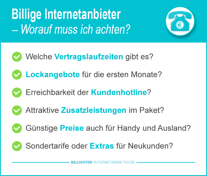 Billiger Internetanbieter
