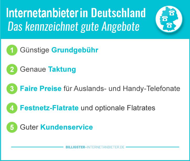 Billiger Internetanbieter Deutschland