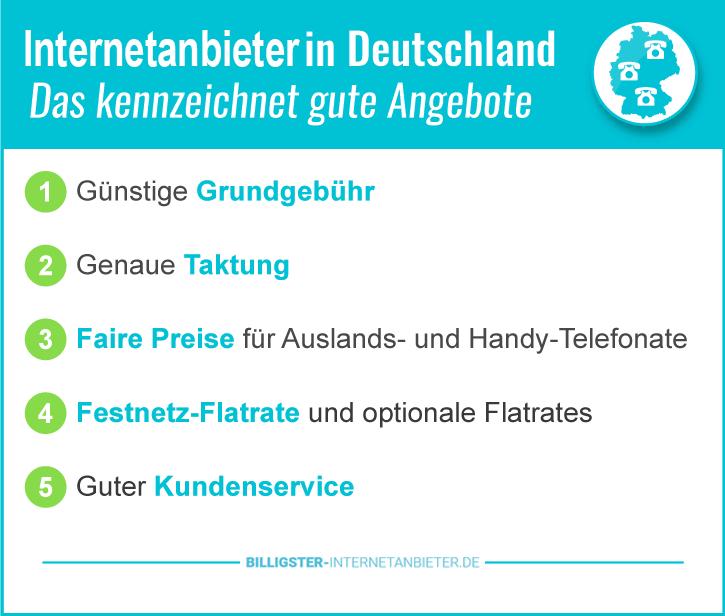 Der Internetanbieter Preisvergleich für Deutschland