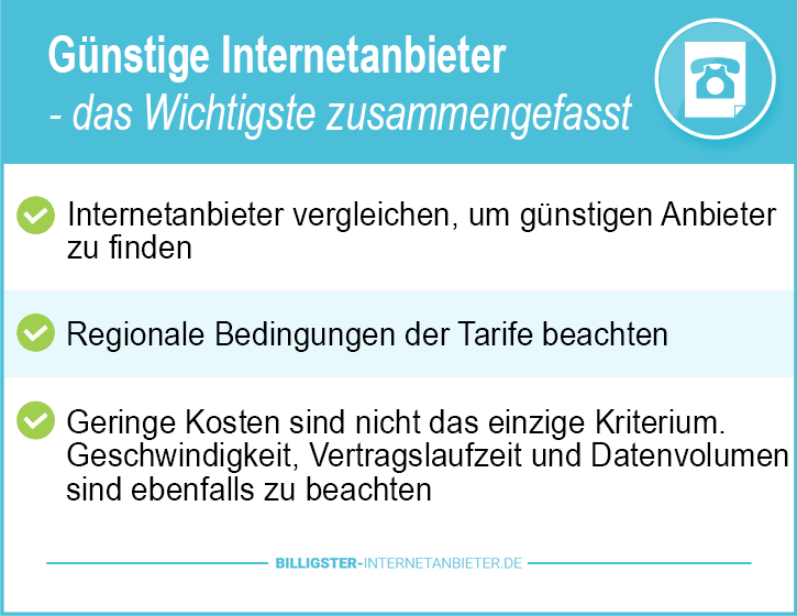 Internetanbieter in München Test