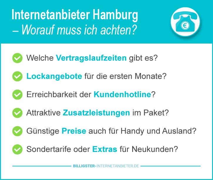 Günstigster Internetanbieter Hamburg