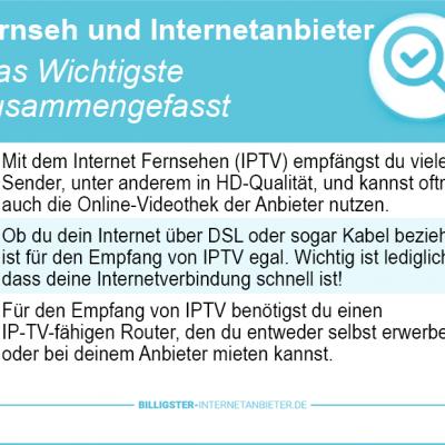 Fernseh und Internetanbieter 2018 – alle Triple Play Angebote