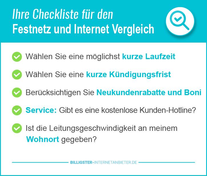 Festnetz und Internetanbieter Test