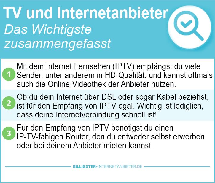 TV und Internetanbieter