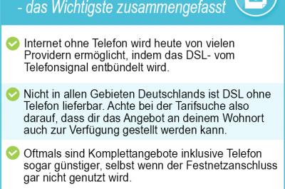 Internetanbieter ohne Telefon 2020 – aktuelle Angebote ohne Telefon