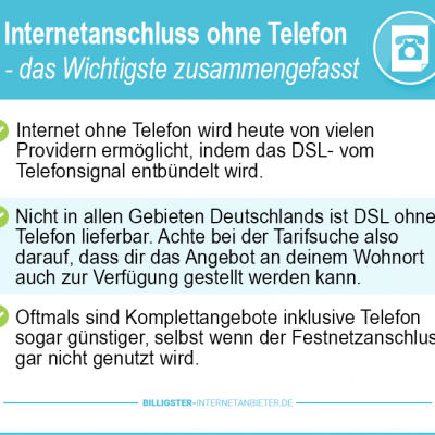 Internetanbieter ohne Telefon 2019 – aktuelle Angebote ohne Telefon