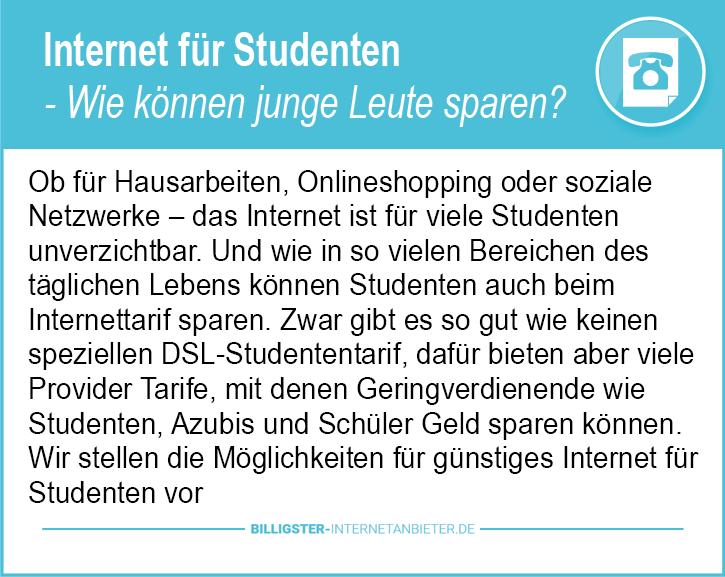 Internet für Studenten Deutschland