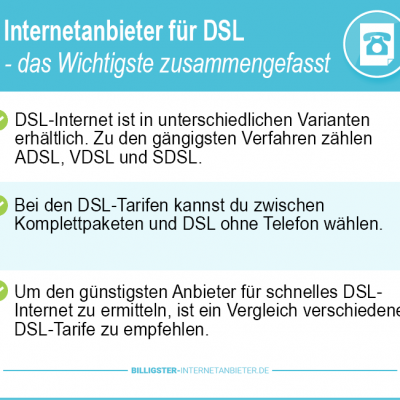 Internetanbieter DSL 2019 – der große DSL Vergleich
