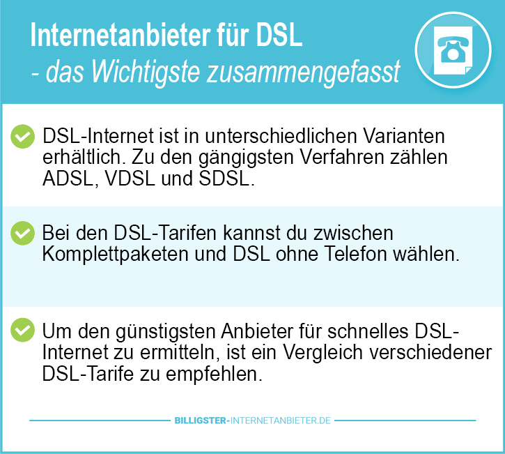Internetanbieter DSL