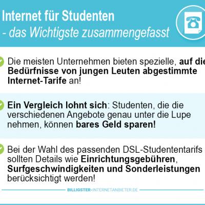 Internetanbieter für Studenten 2019 – Top Tarife zu günstigen Preisen