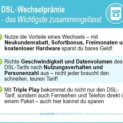 DSL Wechselprämie 2019 – aktuelle Angebote der DSL und Kabelanbieter