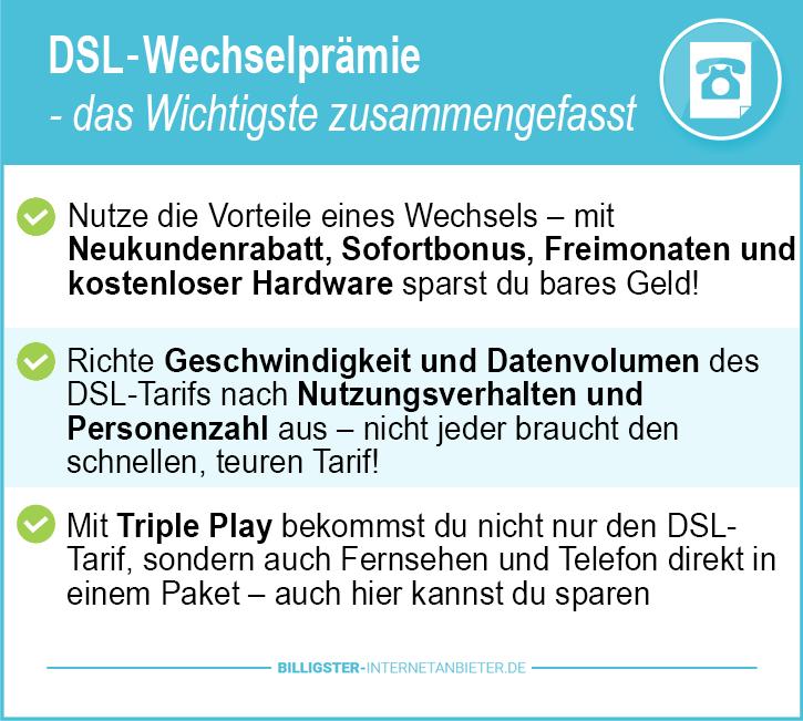 DSL Wechselprämie