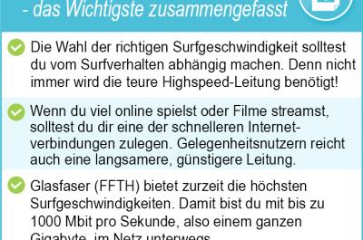 Die Bedeutung von Mbit/s – Welche Surfgeschwindigkeit ist die richtige