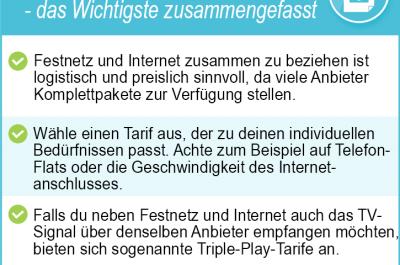Festnetz und Internet gehören zusammen – alle Anbieter und Tarife im Preisvergleich