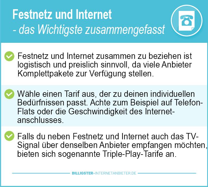 Festnetz und Internet