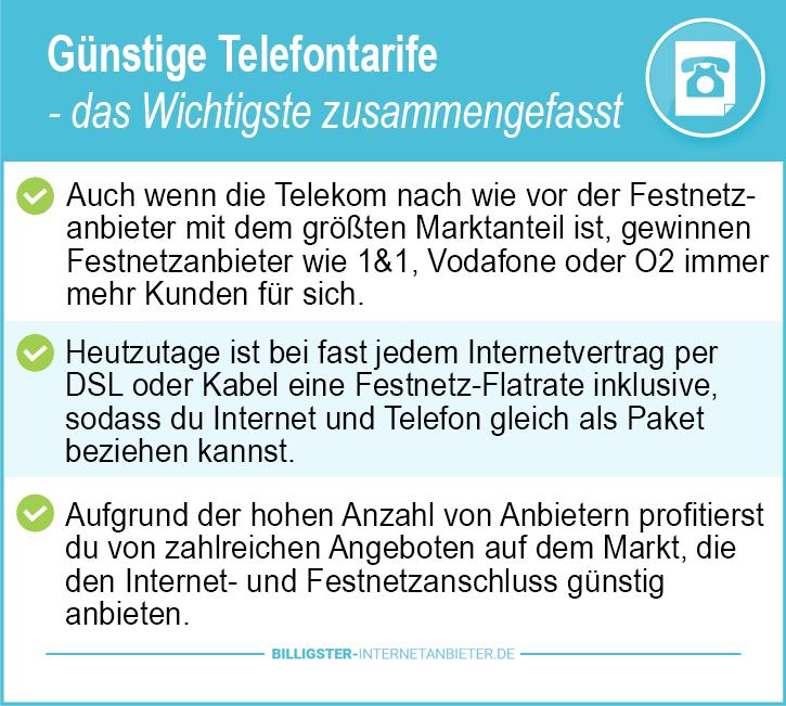 Günstige Telefontarife