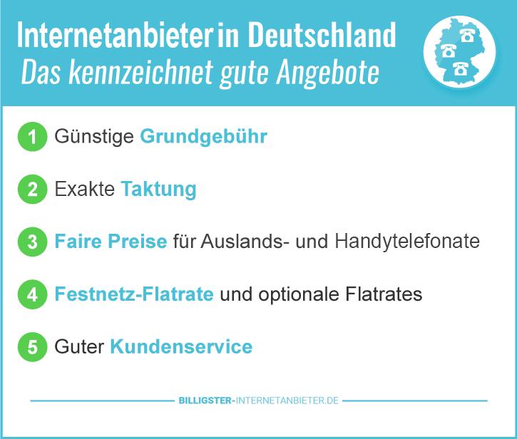 Günstiger Internetanschluss in Deutschland