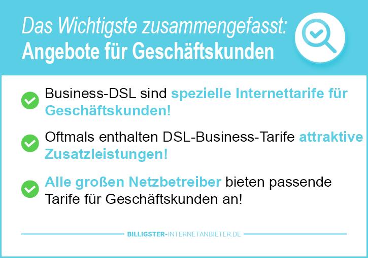 Internetanschluss Angebote Geschäftskunden
