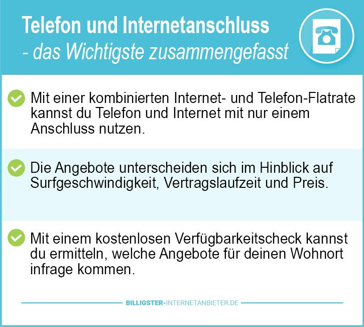 Telefon und Internetanschluss