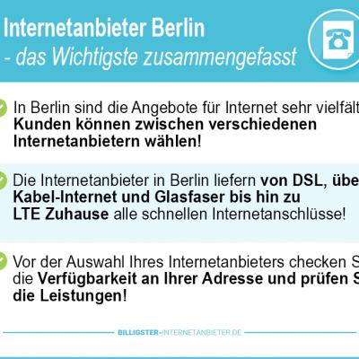 Internetanbieter Berlin 2019 – günstige DSL, Kabel & LTE Tarife im Vergleich