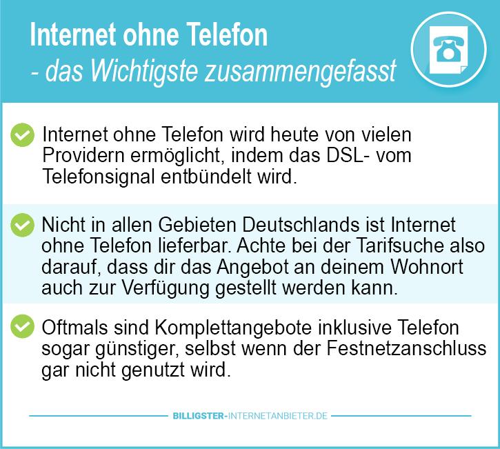 Internetanbieter Berlin ohne Telefon