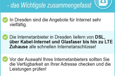 Internetanbieter Dresden 2020 – Alle Tarife für DSL, Kabel & LTE im Test