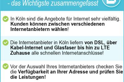 Internetanbieter Köln 2020 – Sichern Sie sich günstiges Internet in Köln