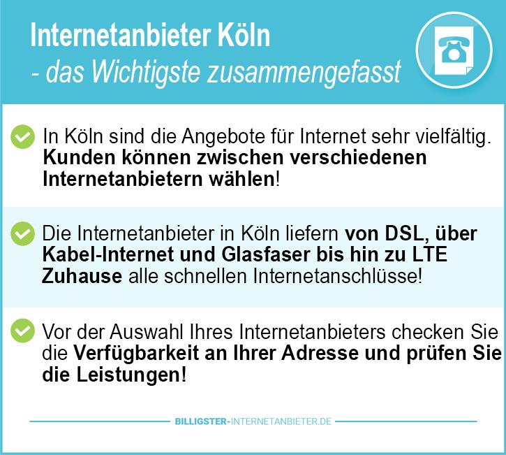 Internetanbieter Köln