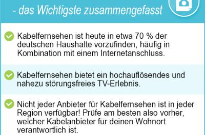 Kabelfernsehen 2020 – Alle Kabel TV Anbieter und Angebote im Test