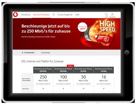 DSL Verfügbarkeit Vodafone
