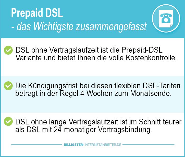 Prepaid DSL