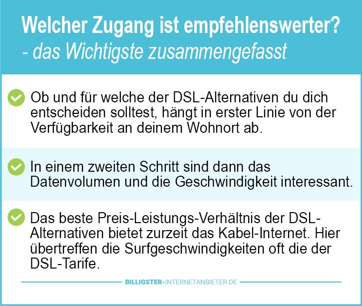 Unterschied Kabel DSL