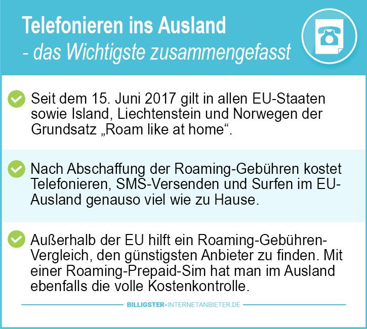 billig telefonieren ins Ausland