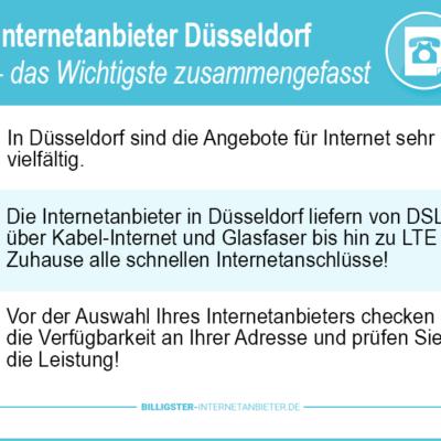 Internetanbieter Düsseldorf: Vergleich günstiger Angebote für Ihren Bedarf