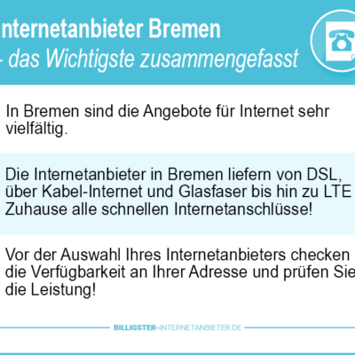 Internetanbieter Bremen – wir zeigen Ihnen den Weg zum bezahlbaren Tarif