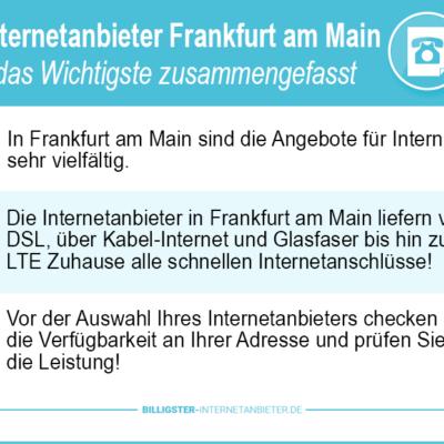 Internetanbieter Frankfurt am Main – Ihr neuer Tarif wartet auf die Buchung