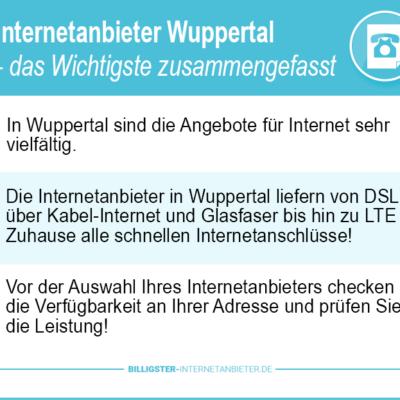 Internetanbieter Wuppertal: Test & Vergleich 2021 zeigen Ihnen Top-Angebote auf!