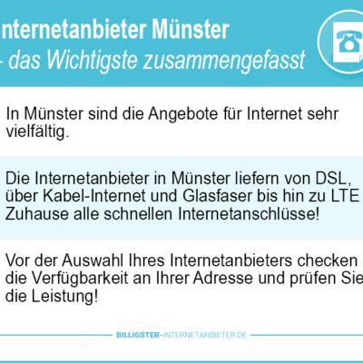 Internetanbieter Münster – unsere Profis verhelfen Ihnen den günstigsten Tarifen
